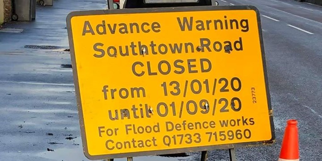 Southtown Road Closure - 13th January 2020